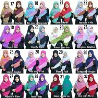 super diskon Hijab Jilbab Segi empat Bolak Balik Dua Warna Murah Berk