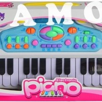 (Sale) ELECTRONIC PIANO PINK CY6032 - MAINAN MUSIC KEYBOARD