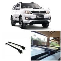 Cross Bar Model Jepit Roof Rail Mobil Toyota Fortuner 2017