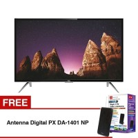 TCL LED SMART TV 32'' Hitam L32S4900 free AntennaDigital
