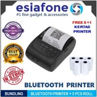 Paket HEMAT ZJIANG Mini Mobile Bluetooth Printer POS ZJ-5802 + Kertas