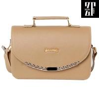 Tas wanita branded handbag selempang cewek murah Krem Original AJ40