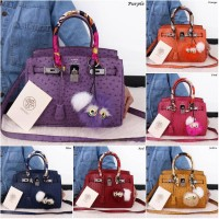 Tas Fashion Luxury Ostrich Diamond 30cm Bags 84122(Wanita Import Murah