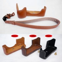 A7II A7RII A7SII - A7 A7R A7S Mark II Half Body Case Leather Sony