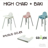 HIGH CHAIR ANAK, KURSI MAKAN ANAK, BABY CHAIR MURAH, ANTILOP IKEA