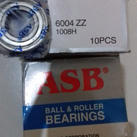 bearing/klaher 6004 zz tutup besi merk ASB..untuk semua motor