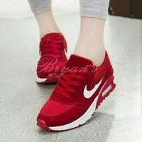 Sepatu Kets Wanita Nike Airmax Replika Warna Merah