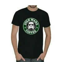T-shirt / Kaos BIG SIZE BERKUALITAS XXXL-XXXXL STAR WARS COFFEE