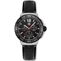 Tag Heuer Formula 1 Chronograph Black Rubber Mens Watch CAU1110.FT6024