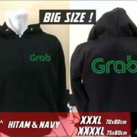 BIG SIZE 3XL 4XL....zipper/sweater/jaket keren GRAB OJEK ONLINE