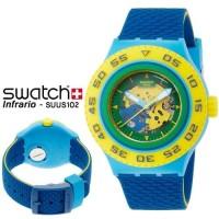 Swatch Scuba Original SUUS102 Infrario Jam Tangan Diver Selam Terbaru
