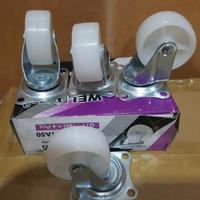 """roda nylon 2"""" WELDOM koper caster etalase aluminium harga per PCS"""