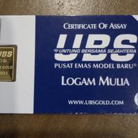 emas murni 999,9 UBS untung bersama sejahtera 1 gr, 1gram