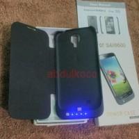 new Power Case Black For Samsung S4 i9500 Flip Cover + Power Bank 4000