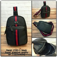 Waist Bag FENDI Black Premium kode 1720-1