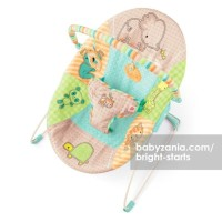Bright Starts Patchwork Zoo Bouncer Vibrate T2909