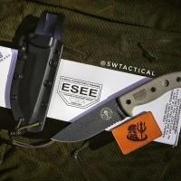 ESEE Knives ESEE-5S-TG Gunsmoke Combo Edge, Black Kydex Sheath, Clip