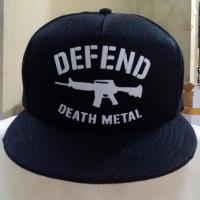 Topi Snapback Defend Death Metal Exlusive Berkualitas