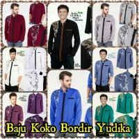 Pakaian laki laki fashion pria atasan pria murah Baju Koko Bordir Yu