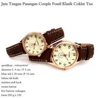 Jam Tangan Couple Klasik F coklat tua