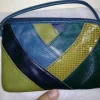 wristlet fossil preloved patchwork green