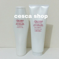 Paket Shiseido Aqua Intensive Shampoo dan Treatment