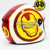 Helm Half Face BMC Milan Avengers Iron Man
