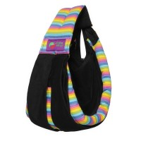 Gendongan Bayi Baba Slings Stripe - Black Rainbow