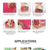 Tas kompresi kayu Hui serat bambu clothes organizer dengan pengait