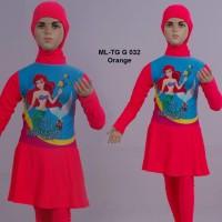 Baju Renang Anak Muslim SD Muslimah Cewek Perempuan Motif