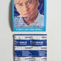 (Diskon) Paramex Obat Sakit Kepala Pusing Puyeng 4 Tablet Paramek