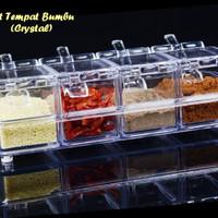 #EC040 tempat bumbu koki cristal 4IN1 crystal Seasoning box rak dapu