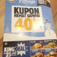 kupon voucher burger king hemat sampai 40% bulan sampai 31 jan 2018