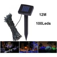 Lampu Dekorasi Taman Tenaga Surya 100 LED Panjang 12 Meter