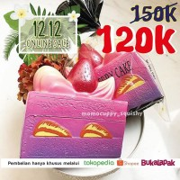 PROMO 12 12 ONLINE SALE Kiibru slice cake galaxy squishy ORIGINAL