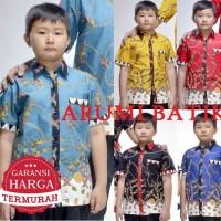 Kemeja / Hem / Atasan / Baju / Anak Laki Laki Batik 2183 6 - 12 Tahun