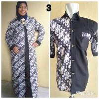 Baju couple batik jumbo sarimbit gamis xxl pakaian pasangan Zafir M