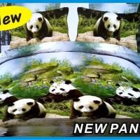 Sprei design motif 3D panda Queen   160x200   kasur no2 T3010