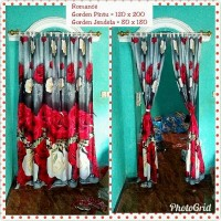 Gorden Jendela Gambar Bunga Romance 120x120