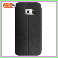 Imak Flip Leather Cover Case Series Samsung Galaxy S6 Edge BlackImak F