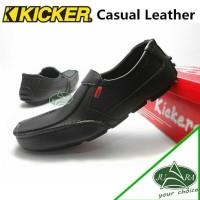 kickers sepatu casual pria kulit sapi asli T3010