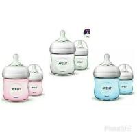 Botol susu philips avent natural bottle twin isi 2 x 125 ml Biru