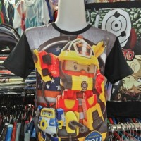 Poli Robot Cars Kaos-Baju Anak Fullprint 3D Distro Unisex