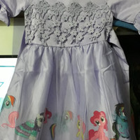 dress/gaun ungu my little pony