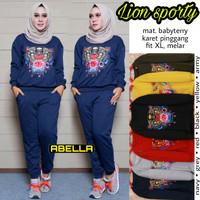baju setelan olahraga wanita lion sporty muslim remaja modern modis