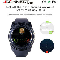 Promo - 4Connect V8 Smartwatch With GSM and Pedometer function