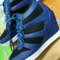 Jual sneaker hidden wedges sepatu wanita hak heels tinggi boots kets zumba Murah