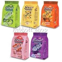 permen kunyah lot 100 sour + plus gummy candy 100 gr ( 25 x 4 gr )