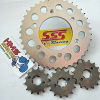 Harga gear gir sss depan belakang 428 motor yamaha honda suzuki | Pembandingharga.com
