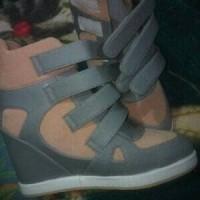 Jual Sneaker hidden wedges sepatu wanita hak tinggi heels boots kets zumba Murah